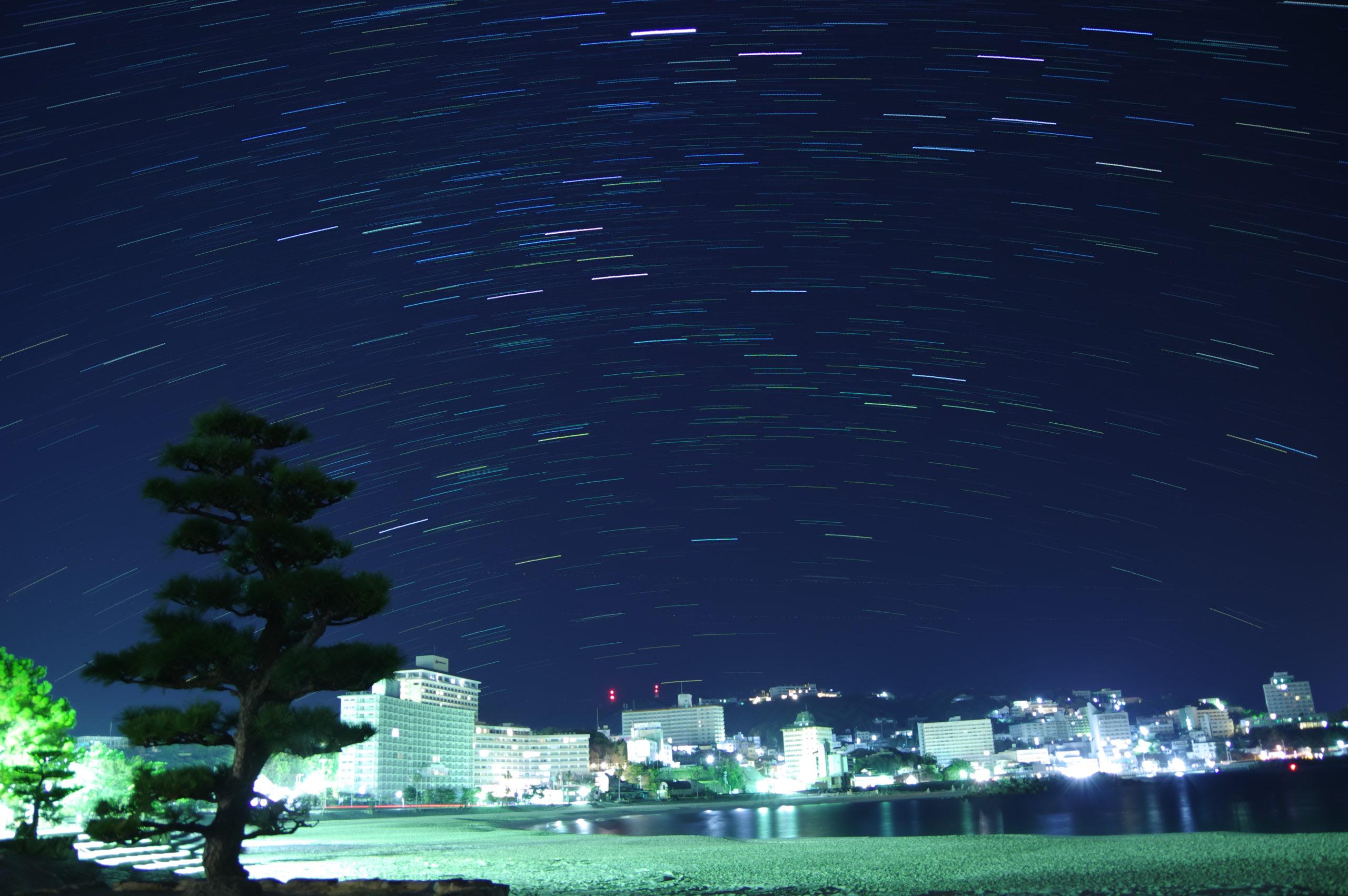 白浜の星空