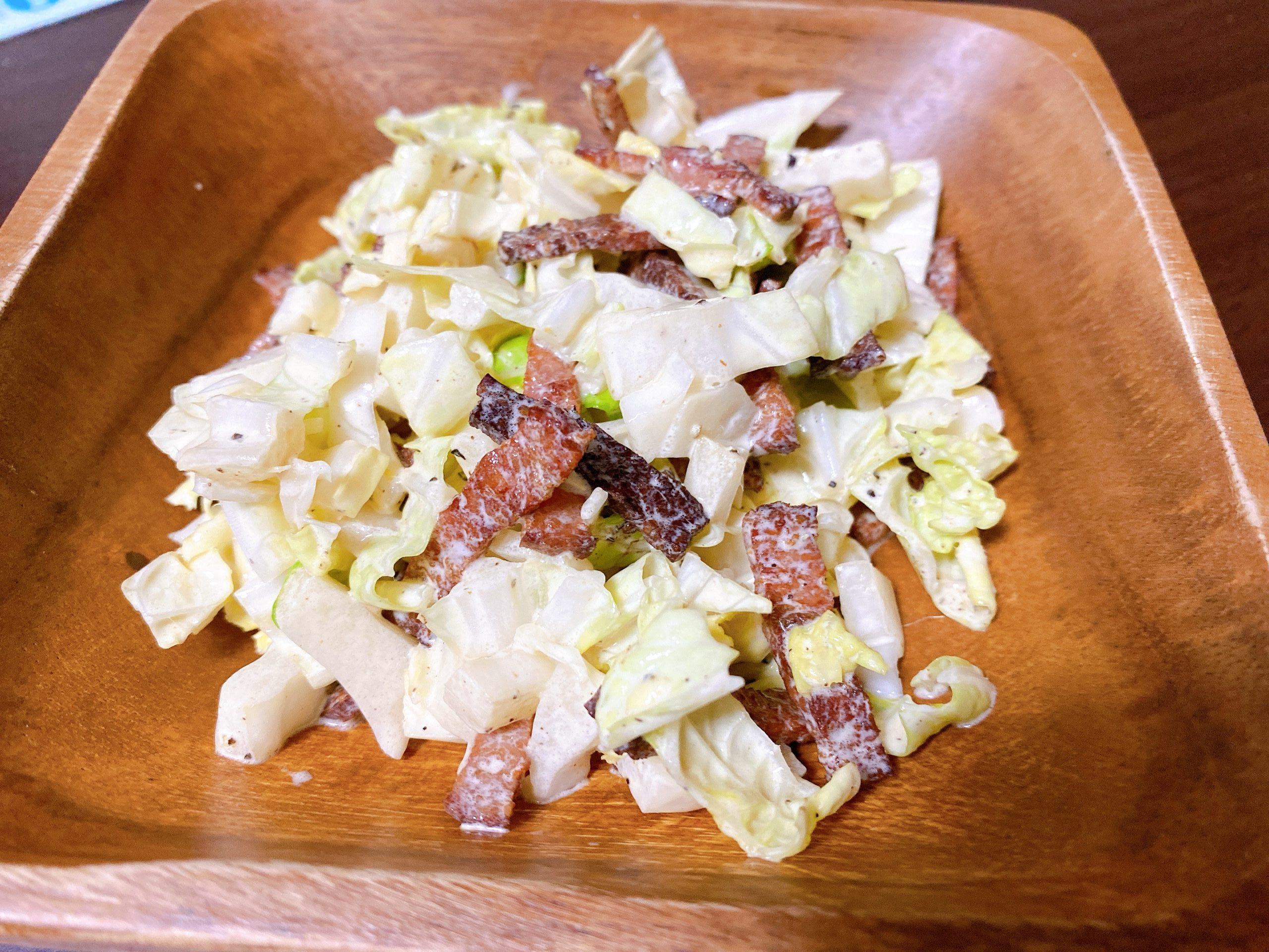 ベーコンと白菜サラダ